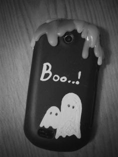 DIY gost phone case! Booo..! Just made this beauty ^_^