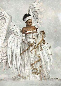 Pictures Of African Warrior Angels - angel warrior by kikicianjur on DeviantArt Black Love Art, Black Girl Art, Black Is Beautiful, Black Girl Magic, Art Girl, Fantasy Kunst, Fantasy Art, African American Art, African Art