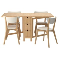 Gorgeous Small Dining Table That Can Be Folded Complete With The Chairs :  Inspirational Foldable Dining