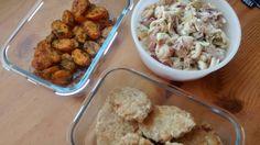Kanapullat, uuniporkkanat ja rakuunainen tonnikalapastasalaatti