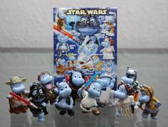 Star Wars  2002 Complete set of 10 Star Wars Hippo Kinder Surprise Figures from Germany Ferrero >>> Click on the image for additional details.