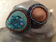 Turquoise and copper headbands by Olah California.