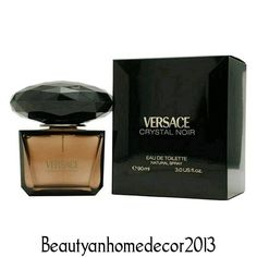 Crystal Noir by Versace 3 oz / 90 ml EDT Spray Perfume for Women New in Box #Versace