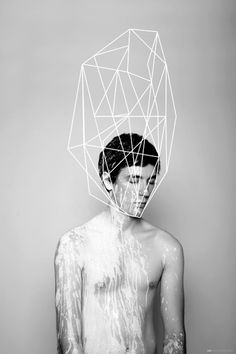 Fashion editorial, man with splash of white paint, geometric rock illustration Geometric(o) Instalation Art, Art Et Illustration, Grafik Design, Art Design, Art And Architecture, Architecture Interiors, Geometric Shapes, Art Direction, Geometry