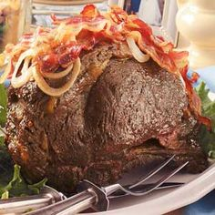 Beef Rib Roast - with or without BACON?