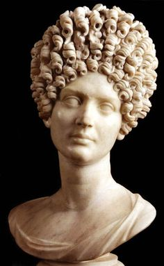 Young Flavian Woman c. 90 CE. currently located at Museo Capitolino, Rome, Italy (SPEAKING OF HAIR FETISH--)