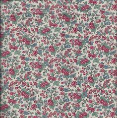 Pretty Calico Broadcloth Fabric BY the YARD  by VictorianWardrobe, $6.00