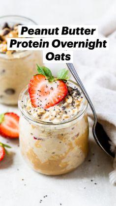 Healthy Morning Breakfast, Healthy Filling Breakfast, Healthy Breakfast Options, Nutritious Breakfast, Protein Breakfast, Diet Breakfast, Healthy Snacks, Healthy Recipes, Overnight Oats No Yogurt