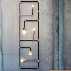 32 Inspirations of Decorative Wall Lamps - There are many types of lamp for a home. The lamp function is not only for the lighting but also for the decoration. The lamp as the decoration is usually located in certain… Continue Reading → Industrial House, Industrial Lighting, Industrial Furniture, Interior Lighting, Home Lighting, Industrial Design, Lighting Design, Industrial Decorating, Industrial Chic