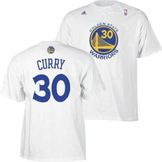 1c8e8f2fa9f Golden State Warriors Stephen Curry Name   Number T-Shirt (White)