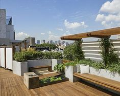 decks-patios-roof-gardens-benches-cushions-planters-plants-summer