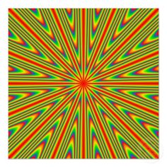 A fun psychedelic optical illusion which will look as if parts of it are moving around when you look at it.