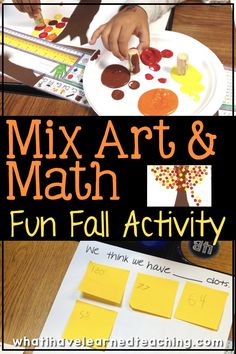 Mix art and math with this fun fall art project. Students create a Fall tree using dots and then use their three-digit addition strategies to figure out how many dots are in their table group. We also extended it to find out the number of dots in our class. A great fun, engaging math AND art activity. #mathandart #threedigitaddition #additionstrategies #secondgrade #thirdgrade #math #art Autumn Activities For Kids, Art Activities, Math Art, Fun Math, Autumn Leaves Craft, Fall Leaves, Winter Trees, Addition Strategies, Fall Art Projects