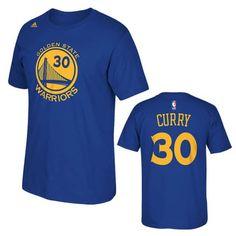 Golden State Warriors adidas Stephen Curry #30 Gametime Player Tee - Royal - Golden State Warriors