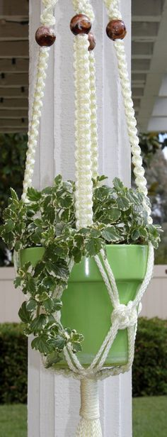 lacey macromae plant hangers | Macrame Plant Hanger I used to make these! I had lots of ... | crafts