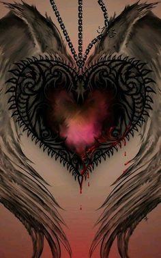 Heart with wings ~ Tattoo idea Heart Art, Love Heart, Body Art Tattoos, I Tattoo, Tattoo Feather, Arabic Tattoos, Wing Tattoos, Heart Tattoos, Celtic Tattoos