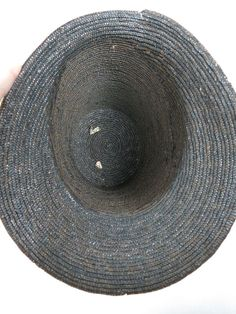 Antique Regency - Georgian Tall-Crown Straw Bonnet With Original Embellishments