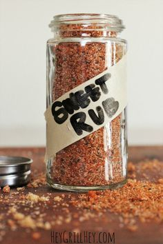 The BEST Sweet Rub for Grilled Pork and Chicken Homemade Sweet Rub. Amazing on grilled chicken, pork, shrimp, etc. Homemade Spices, Homemade Seasonings, Homemade Sweets, Homemade Bbq, Grilling Recipes, Pork Recipes, Smoker Recipes, Recipies, Chicken Recipes