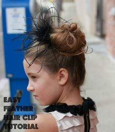 Sew Country Chick- Handmade Style: 5 minute feather hairclip