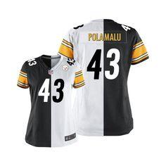 2c4ac73fc0d Troy Polamalu Women s Elite Team Road Two Tone Jersey  Nike NFL Pittsburgh  Steelers