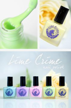 Lime Crime nailpolish www.damselsanddames.com