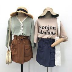 ◖ Pinterest @01paaula ◗ Korea Fashion, Pop Fashion, Cute Fashion, Asian Fashion, Girl Fashion, Fashion Outfits, Fashion Design, Basic Outfits, Mode Outfits