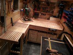 Werkstatteinrichtung selber bauen  Werkstattschrank   Selbst bauen, Das büro und Gartenhäuser