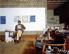 Richard Diebenkorn in his studio   1982