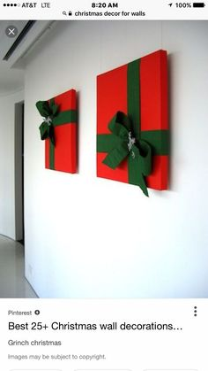 Simple Ideas Christmas Wall Decoration Ideas Diy Christmas Wall Decor Ideas Adding Holiday Cheers To Your - adventure and living Christmas Door, Simple Christmas, Christmas Time, Christmas Ornaments, Christmas Pizza, Christmas Fairy, Christmas Music, Hanging Ornaments, Christmas Wishes