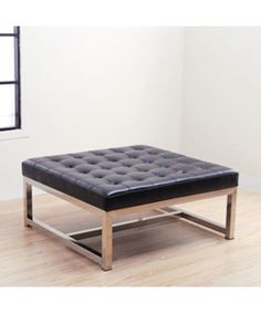 @Overstock - Enhance your home decor with this Barcelona large black leather ottoman Luxurious piece of furniture is sturdy and comfortable Fashionable ottoman is sure to accent any room in your homehttp://www.overstock.com/Home-Garden/Liberty-Large-Black-Leather-Ottoman/2683508/product.html?CID=214117 $287.99