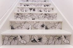 Flowers & other wallpaper: Fun, High-Impact Stair Makeovers