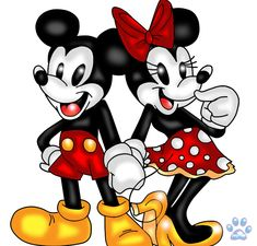 Mickey and Minnie Mouse by jayfoxfire.deviantart.com