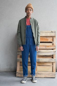 Overalls by Camo, Jacket by Norse Projects, Tee by Homespun