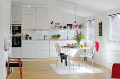 kleine skandinavische Küche-einrichten
