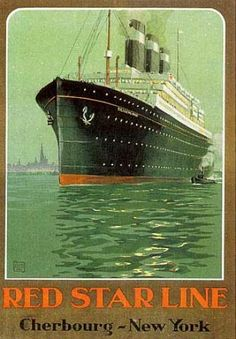 Red Star Line - Cherbourg - New York by  Affiches Publicite
