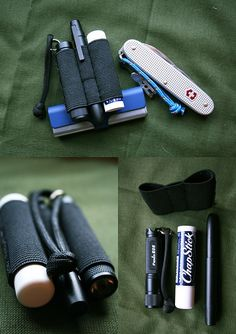 Keep small items organized within the depths of your pockets!  DIY elastic holder for pocket gear.