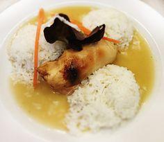 Denné menu Vranov | Rolované kuracie prsia plnené sušenou slivkou, dusená ryža - reštaurácia Hotel Patriot*** #hotel #restauracia #dennemenu