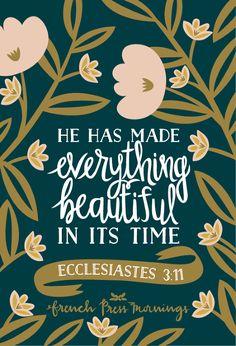 French Press Mornings - Ecclesiastes 3:11