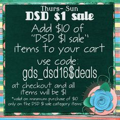 **DSD 2016 $1 Sale - Sept. 29 to Oct. 2