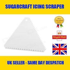 TRIANGLE PLASTIC DECORATING CAKE SCRAPER ICING FONDANT BAKING JAGGED SAWTOOTH