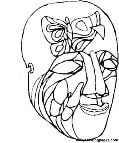 Mardi Gras Coloring Pages Holiday 07