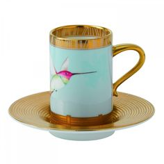 Orchid Demitasse Cup and Saucer | Wedgwood and Bentley