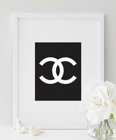8 x 10 Chanel décor de bureau idée cadeau mur par designsbymariainc