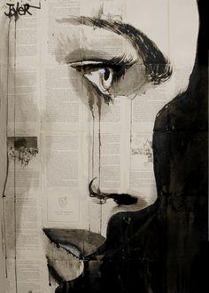 """Saatchi Online Artist: Loui Jover; Pen and Ink, Drawing """"verity"""""""