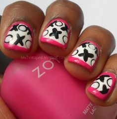 If you haven't noticed, I love the idea of bordering your nail design with a