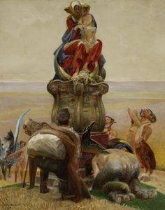 Jacek Malczewski, Adoration of the Madonna, 1910 Amber Tree, Satanic Art, Classical Art, Illustration Artists, Fantasy Artwork, National Museum, Occult, Madonna, Les Oeuvres