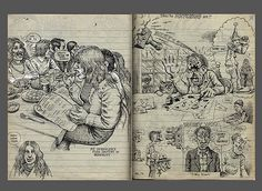 Robert Crumb sketchbook (1970) via sokref1.