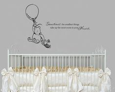 This lovely decal features the quote as well as our hand drawn Classic Pooh and Piglet. This decal measures 22 tall x 32 wide. * Easy to apply and easy to remove * Removable but not reusable! * High quality, interior grade matte vinyl * Please contact us if youd like a custom design! ***This decal is shown in our black vinyl*** We strive to have the best customer service possible! If for any reason you are unhappy with your purchase or have any questions about your wall decal, please c...