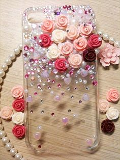 Here you are currently viewing the result of your Best DIY Jeweled Phone Case Ideas. You will be very happy to see these diy jeweled phone case ideas. Girly Phone Cases, Cell Phone Covers, Diy Phone Case, Iphone Cases, Hot Glue Phone Case, Cellphone Case, Iphone Phone, Diy Home Decor Rustic, Accessoires Iphone
