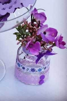 Small bottles for flowers or candy